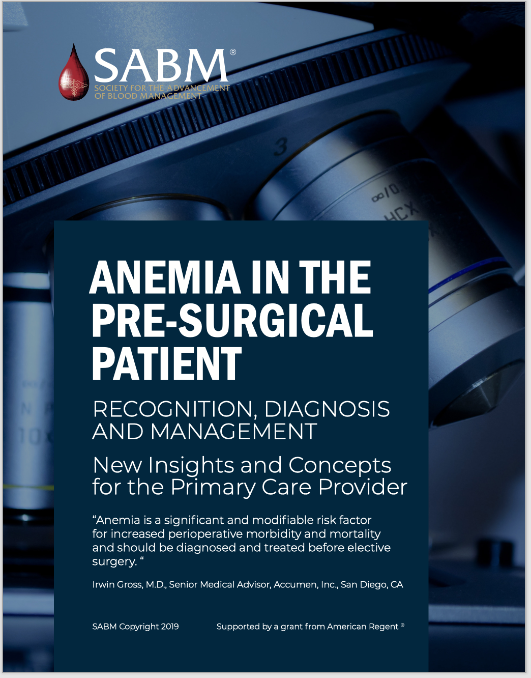 Anemia in the Pre-Surgical Patient